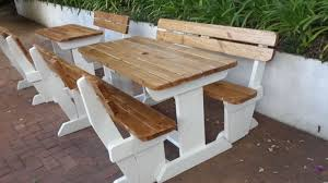 wooden furniture picnic benches