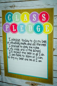 Class Pledge In An Adorable Shabby Chic Themed Classroom