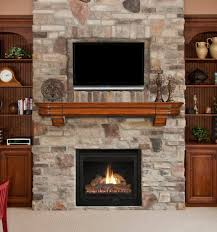 electric fireplace and tv brick wall modern electric fireplace tv stand with wooden rack furniture