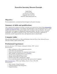 Precious Resume For Secretary 8 Executive Resume Example