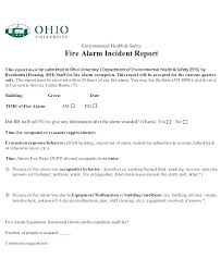 Fire Incident Report Template Accident Reporting Form Template Fire
