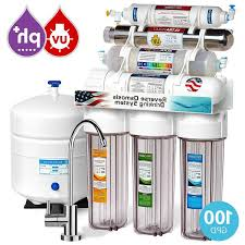 express water 11 stage uv ultraviolet alkaline reverse osmosis home drinking water filtration system 100 gpd