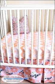 peach nursery bedding blush pink