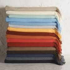 Navy Cashmere Throw Blanket