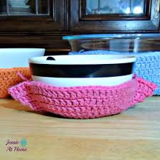 Bowl Cozy Pattern Awesome One Hour Crochet Bowl Cozy AllFreeCrochet