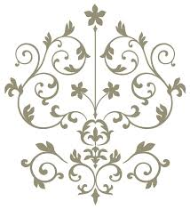 nouveau damask wall art decal kit on damask sticker wall art with nouveau damask wall art decal kit contemporary wall decals by
