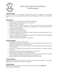 Child Care Responsibilities Resume