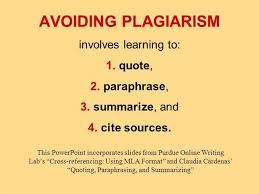 Plagiarism Quoting Paraphrasing And Summarizing Authorstream