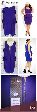 City Chic Size Chart City Chic Purple Ponte Peplum Dress Xl 22 Nwt City Chic