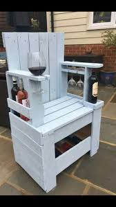 great diy projects to try what an awesome diy idea for a wine lover make a wine drinking chair our of pallet wood clever and fun