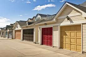 multi colored garage doors