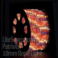 3 8 led rope lighting 120v. patriotic rope light with red, white and blue lights - 3/8 inch 3 8 led lighting 120v