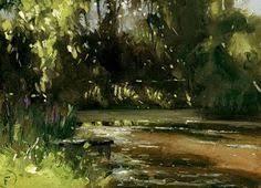 """Sparkles on the <b>Lake</b>"" - <b>Original</b> Fine Art for Sale - © Nigel Fletcher ..."
