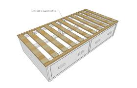 ana white alaska cabin daybeds or captain beds with storage drawer areas diy projects