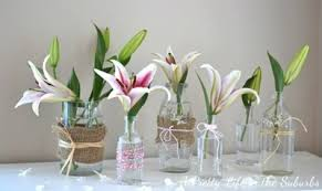 Refashioned Mason Jar Flower Vases