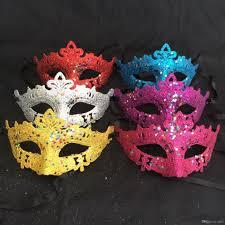 Mask Decorating Supplies Women Half Face Mask Twinkle Star Glitter Sequins Masks For 8