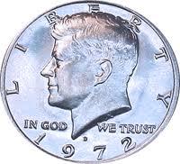 1972 Kennedy Half Dollar Value Chart 1972 D Kennedy Half Dollar Value Cointrackers