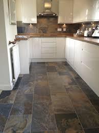faux slate floor tiles new best 15 slate floor tile kitchen ideas