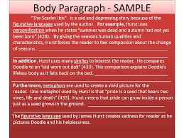 literary analysis essay ppt video online  body paragraph sample