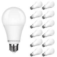 7w 450lm warm white a19 e26 led light bulbs 40w incandescent equivalent pack of 12 units