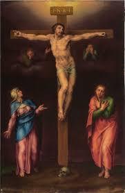 michelangelo buonarroti crucifixion with mary and john