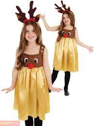 girls rudolph reindeer costume childs fancy dress