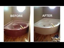 bathtub reglazing before after surface renew
