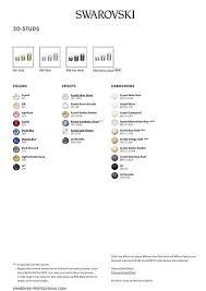 Swarovski Colour Charts Bluestreak Crystals Uk Swarovski