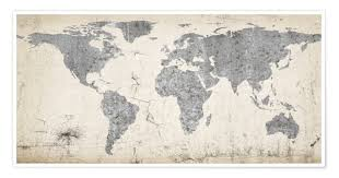 World Map Posters Premium Poster Vintage World Map