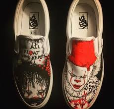 Cool Designs To Paint On Shoes Eu Quero Muito Isso It Pennywise Vans Custom