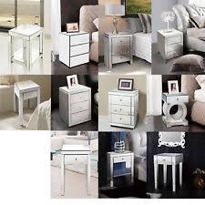 mirror effect furniture. WestWood Mirrored Furniture Glass Bedside Cabinet Table With Drawer Bedroom New Mirror Effect E
