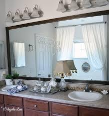 trim around bathroom mirror. Easy DIY For Renters: Trim A Giant Mirror | 11 Magnolia Lane Around Bathroom U