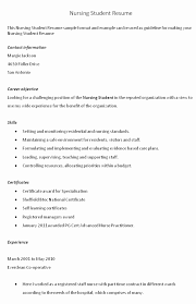 Nursing Student Resume Template Word New Nursing Resume Template New