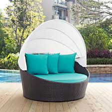 outdoor patio daybed. Latitude Run Ryele Canopy Outdoor Patio Daybed With Cushions \u0026 Reviews | Wayfair W
