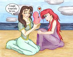 Small Picture An Ariel and Belle Valentine by Goddess Aribelle on DeviantArt