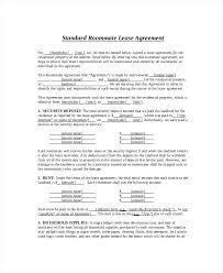 Sample Room Lease Agreement Agreement Roommate Rental Form Simple ...