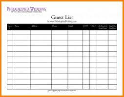 Free Printable Wedding Guest List Spreadsheet Reptile Shop