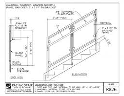 how to install wall mounted stair railing s 45 good pictures of pacific stair corporation cad