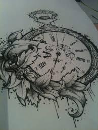 Tattoo Clock Hledat Googlem Tattoo Tetování Návrhy Tetování A