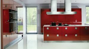 Kitchen With Red Appliances Italian Kitchen Design With Wooden Laminating Flooring In Modern