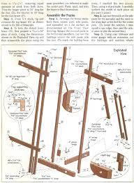 Easel Design Plans Diy Art Easel Woodarchivist