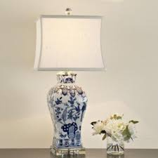blue and white lamps. Blue And White Porcelain Table Lamps A