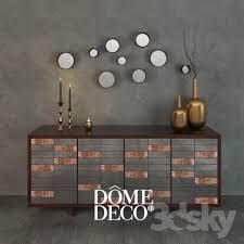 set dresser 3d models sideboard chest of drawer dome deco decor set