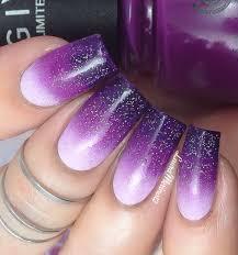 Purple Gradient (Ombre) Nail Art Tutorial - YouTube