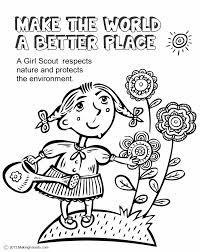 Small Picture Girl Scouts Make the World a Better Place This coloring page will