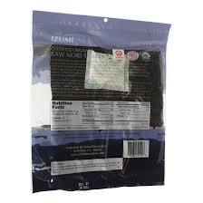 nori sheet raw organic nori sheet 10 pack izumi brand at the kitchen