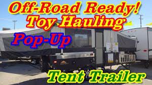 evolution e2 toy hauler pop up tent cer at the 2017 dallas rv super