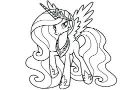 Beautiful My Little Pony Coloring Pages Printable Pictures Pdf Online