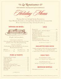 Holiday Menu Our Holiday Menu Is Here La Renaissance Patisserie Francaise