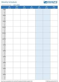 Excel 15 Minute Schedule Template Printable Weekly And Biweekly Schedule Templates For Excel Printable